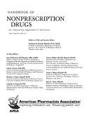 Handbook Of Non Prescription Drugs Book PDF
