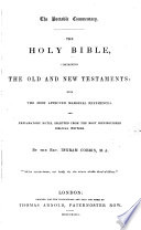The Portable Commentary  The Holy Bible     with     Explanatory Notes  Selected     by the Rev  Ingram Cobbin