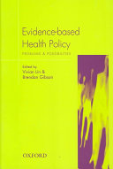 Evidence based Health Policy Book