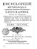 Encyclopédie méthodique. Géographie