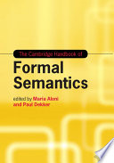 The Cambridge Handbook of Formal Semantics