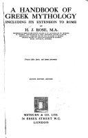 A Handbook Of Greek Mythology Book