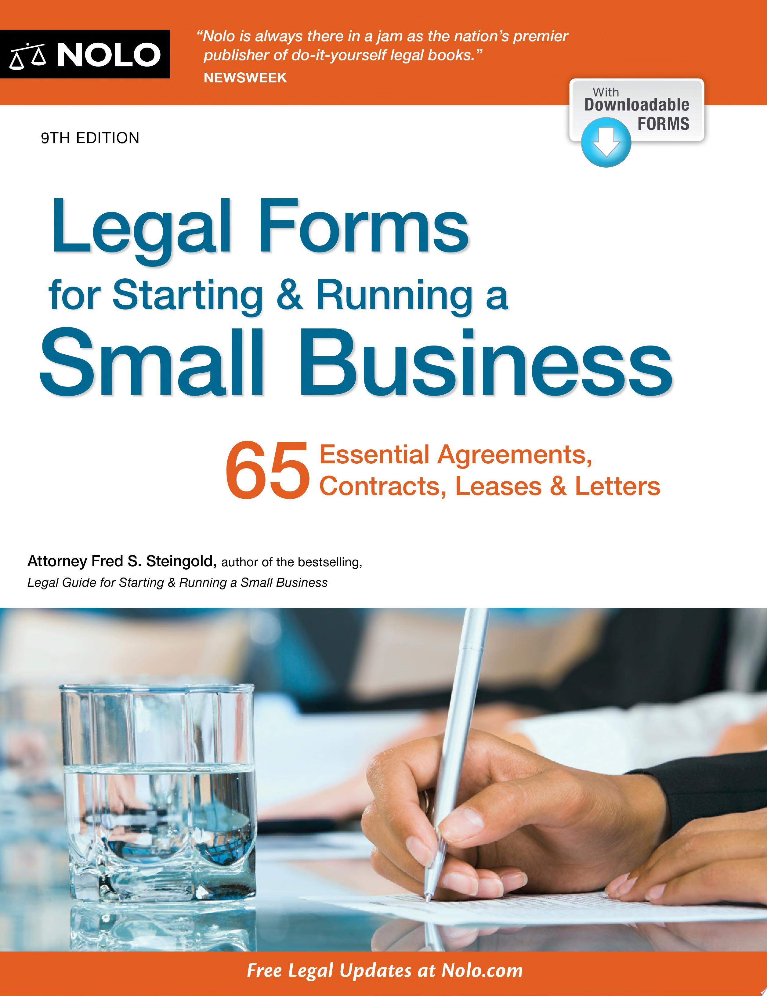 Legal Forms for Starting   Running a Small Business
