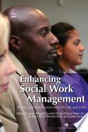 Enhancing Social Work Management Book PDF