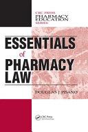 Essentials of Pharmacy Law Pdf/ePub eBook