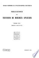 Publicaciones del Instituto de Biología Aplicada