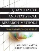 Quantitative and Statistical Research Methods