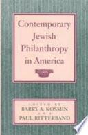Contemporary Jewish Philanthropy in America