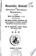 Kurzgefassete Geschichte aller Königlichen Preussischen Regimenter