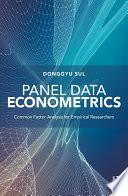 Panel Data Econometrics