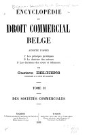 Encyclopédie du droit commercial belge, annoté d'après