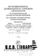 Proceedings of the international astronautical congress
