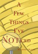 A Few Things I've Noticed Pdf/ePub eBook