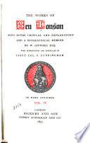 The alchemist ; Catiline ; Bartholomew Fair