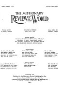The Missionary Review