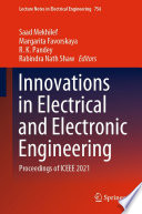 Innovations in Electrical and Electronic Engineering