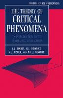 The Theory of Critical Phenomena