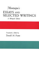Montaigne's Essays and Selected Writings