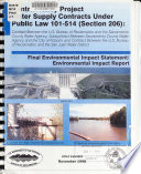 Central Valley Project Water Supply Contracts Under Public Law 101 514 Section 206 No Specific Title PDF