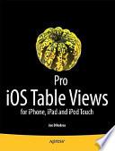 Pro iOS Table Views