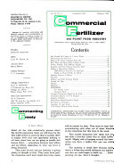 Commercial Fertilizer and Plant Food Industry
