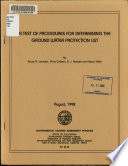 A Test of Procedures for Determining the Ground Water Protection List