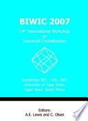 Biwic 2007 14th International Workshop On Industrial Crystallization Book PDF