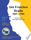 San Francisco Deaths 1865 1905 Book