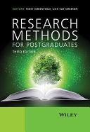 Research Methods for Postgraduates