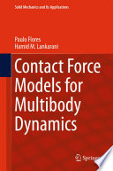Contact Force Models for Multibody Dynamics Book