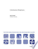 Contemporary Metaphysics Oxford Bibliographies Online Research Guide