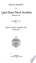 Annual Register Of The United States Naval Academy Annapolis Md