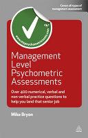 Management Level Psychometric Assessments