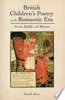 British Children's Poetry in the Romantic Era