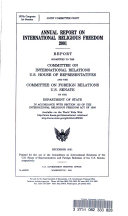 Annual Report on International Religious Freedom 2001