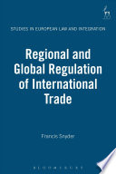 Regional and Global Regulation of International Trade