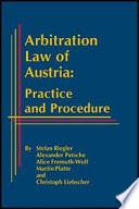 Arbitration Law of Austria