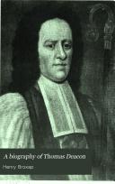 A biography of Thomas Deacon