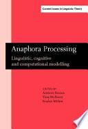 Anaphora Processing