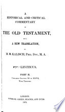 A Historical and Critical Commentary on the Old Testament