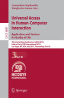 Universal Access in Human Computer Interaction  Applications and Services for Quality of Life