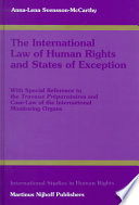 The International Law Of Human Rights And States Of Exception