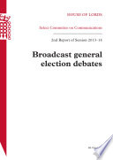 HL 171 - Broadcast General Election Debates