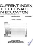 Current Index to Journals in Education  : CIJE. , Volume 8