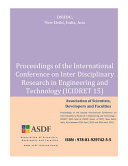 Proceedings of The International Conference on Inter Disciplinary Research in Engineering and Technology 2015