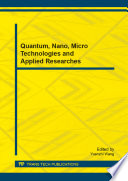 Quantum, Nano, Micro Technologies and Applied Researches