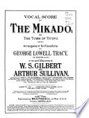 Vocal Score of The Mikado  Or  The Town of Titipu Book PDF