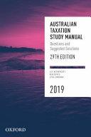 Cover of Australian Taxation Study Manual 2019