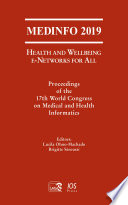 MEDINFO 2019  Health and Wellbeing e Networks for All