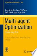 Multi agent Optimization